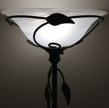 Dish torchiere glass shade