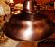 Genuine copper pendant light top view