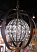 Sphere Bronze and Crystals Pendant Light