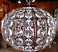 Crystal sphere pendant light