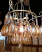 Chandelier with honey gold hanging glass prisms