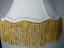 Bell Silk Lamp Shade w/Gold Fringe