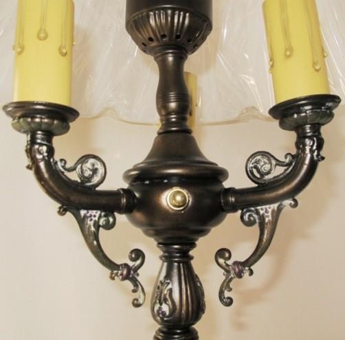 Vintage Bronze 6 Way Floor Lamp