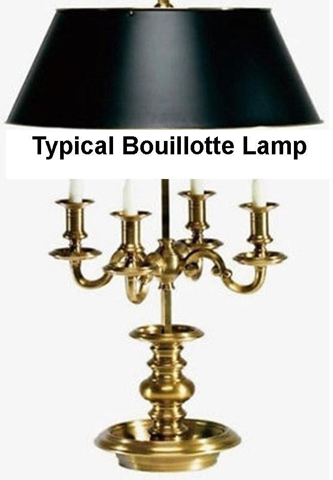 Typical Bouillotte candlestick lamp