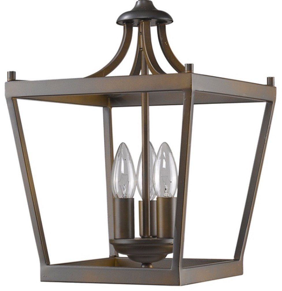 Bronze Lantern Pendant Light
