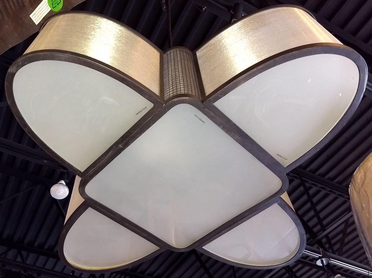 Bronze Chandelier Sheer Organza Shades 5 Lights 28 Quot Wx16 Quot H