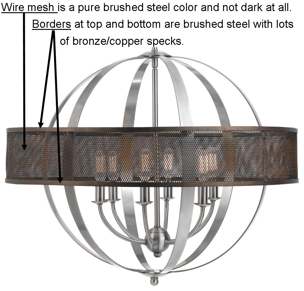 Brushed Steel Wire Mesh Pendant Light 26\