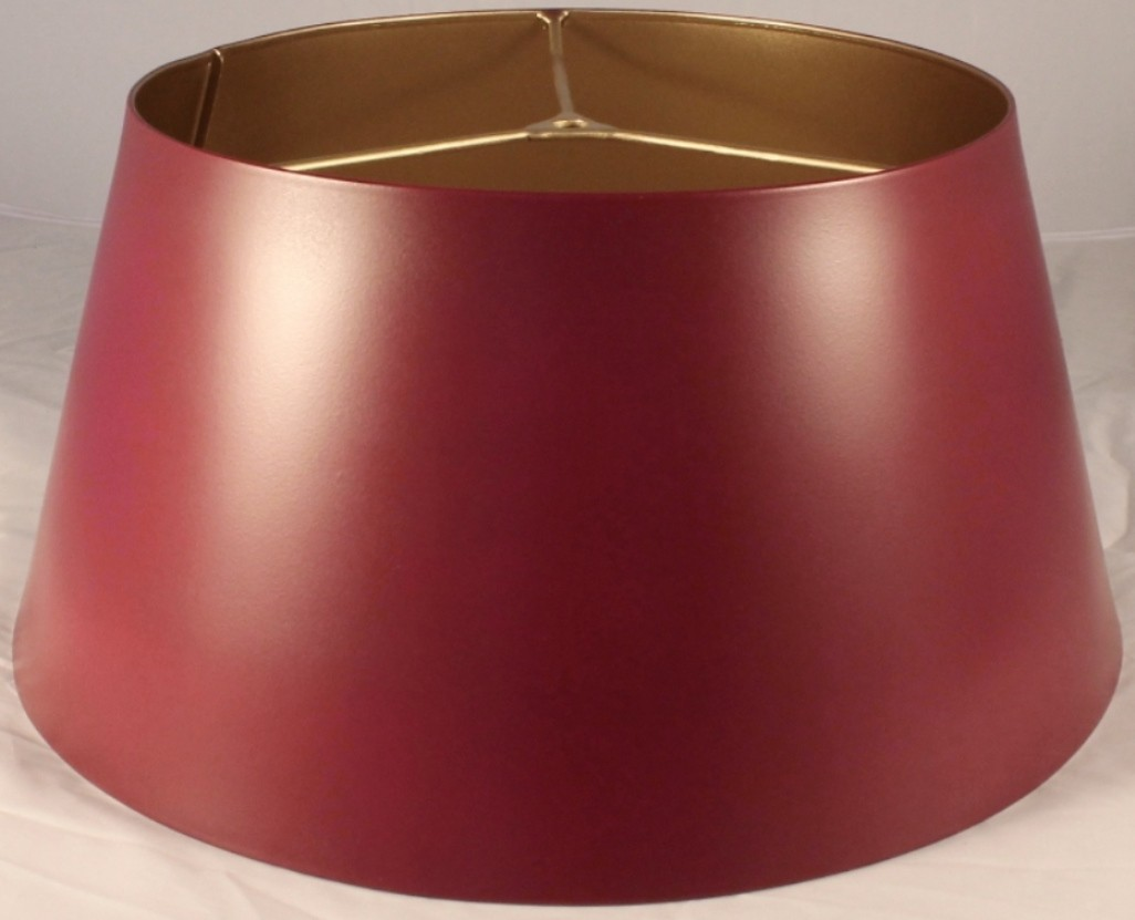 Burgundy Metal Lamp Shade