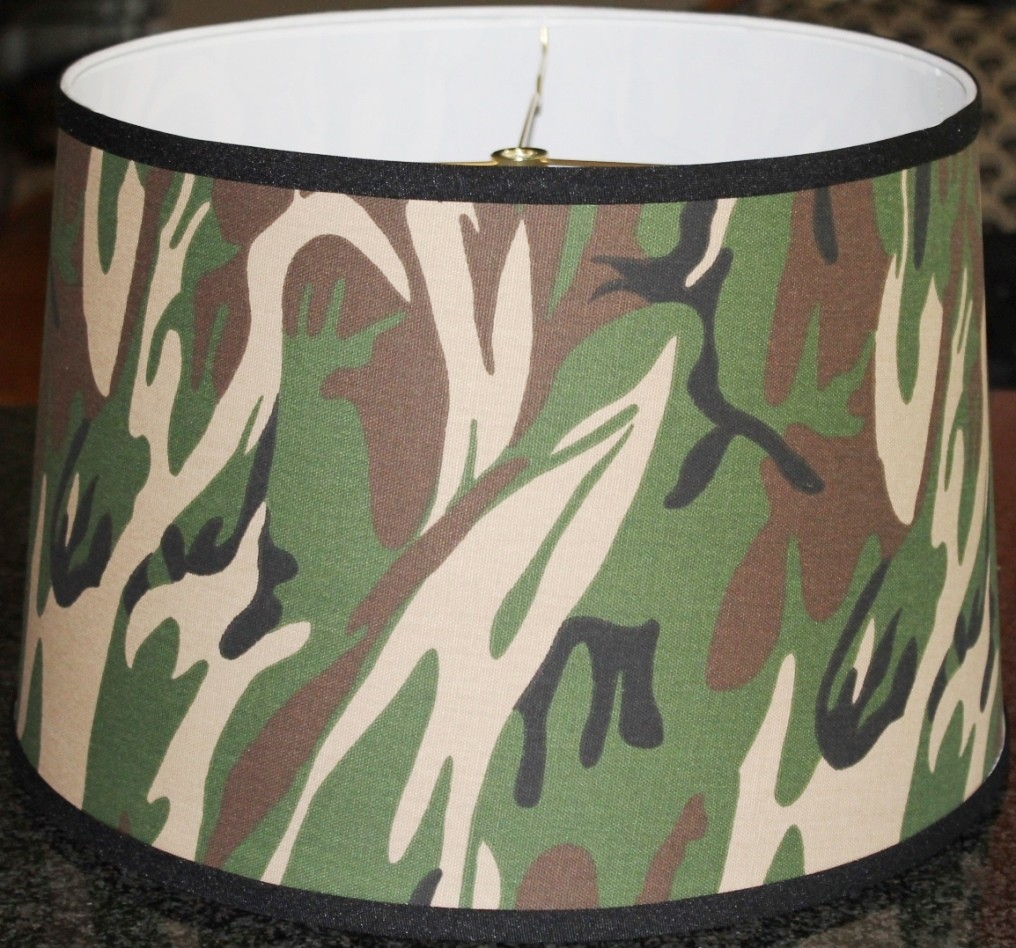 Camouflage empire lamp shade 12 18 w lamp shade pro for Drum shaped lamp shades
