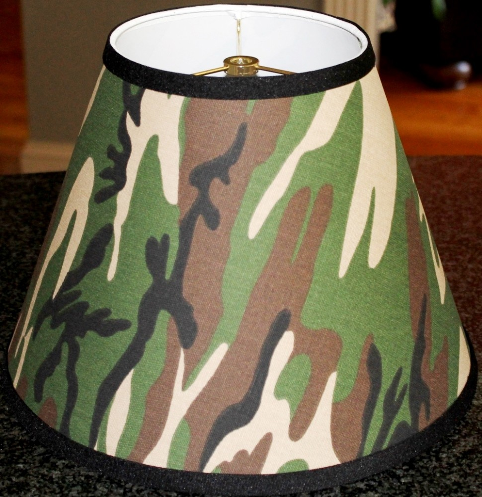 Camouflage empire lamp shade