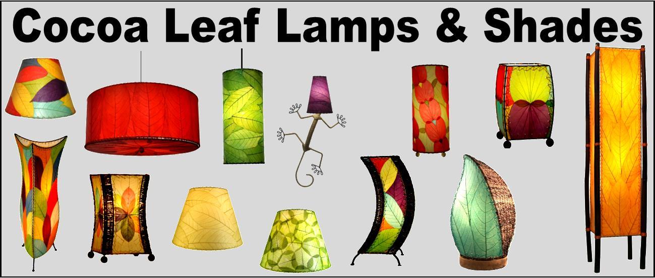 Cocoa Leaf Lamps & Shades