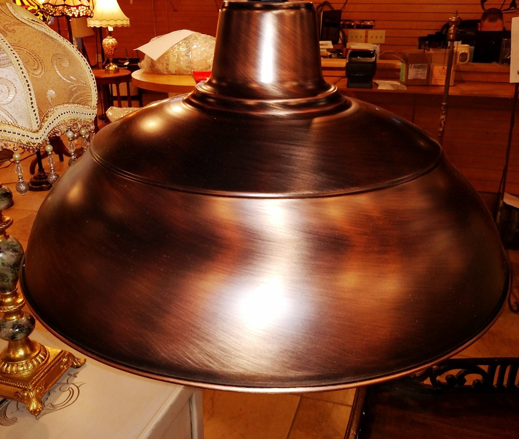 Genuine copper pendant light top view