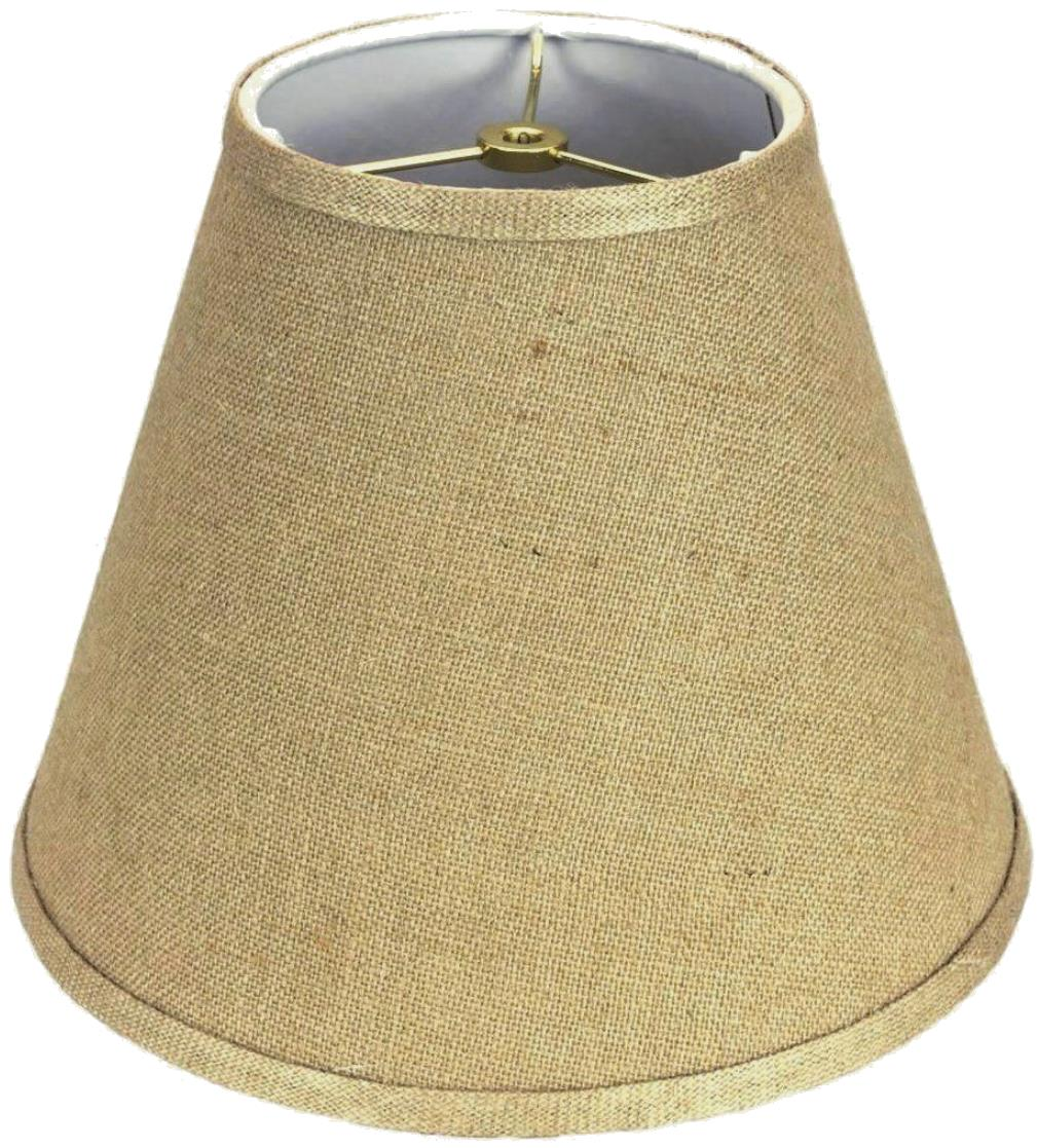 Burlap empire lampshade
