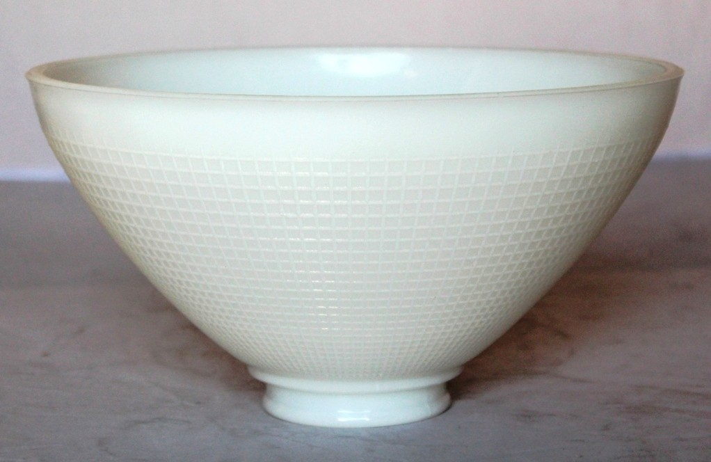 White bowl glass shade torchiere 3 fitter sizes widths lamp no slide shade gripper glass bowl torchiere shade aloadofball Gallery