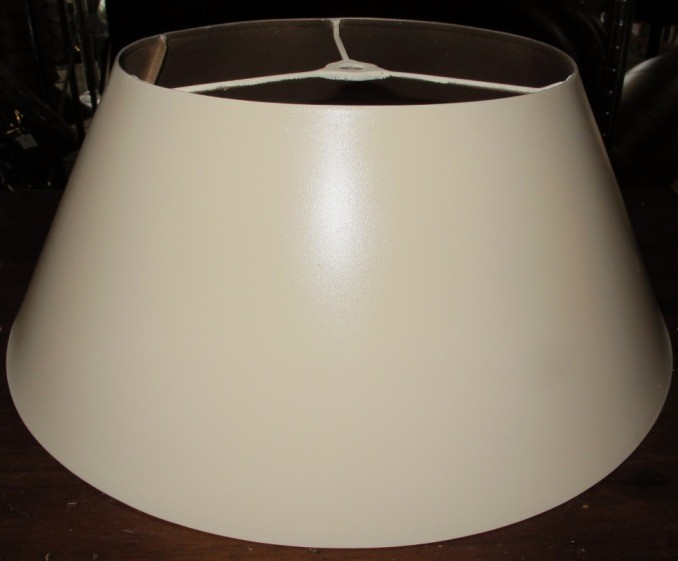 Ivory metal lamp shade