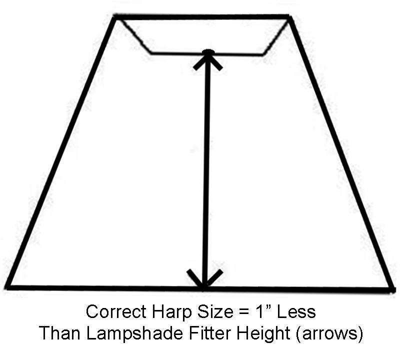 Harp saddle hardware for lamps shades sizes 7 12 tall lamp shade diagram mozeypictures Choice Image