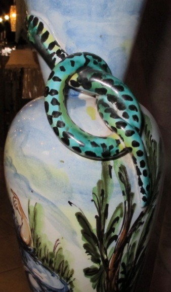 Antique snake lamp