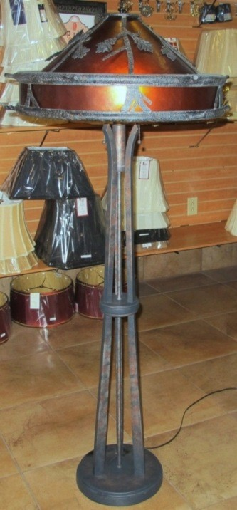 Mica floor lamp