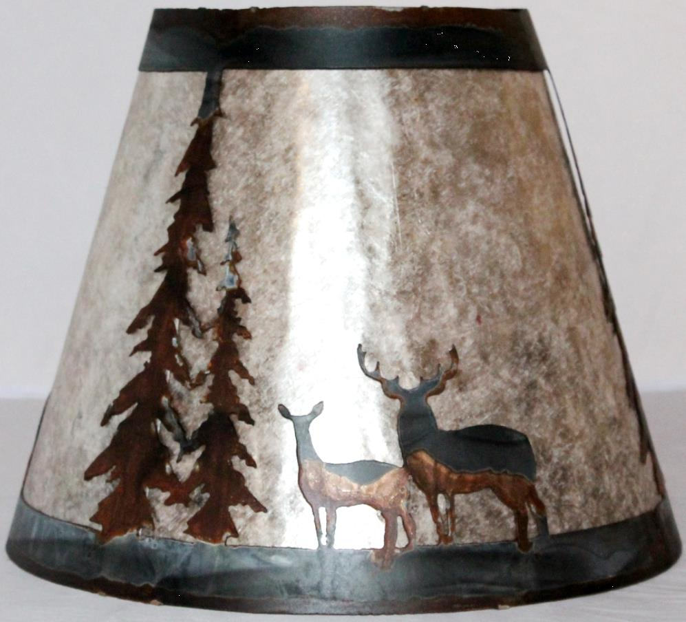 Mica Lamp Shade Deer Trees