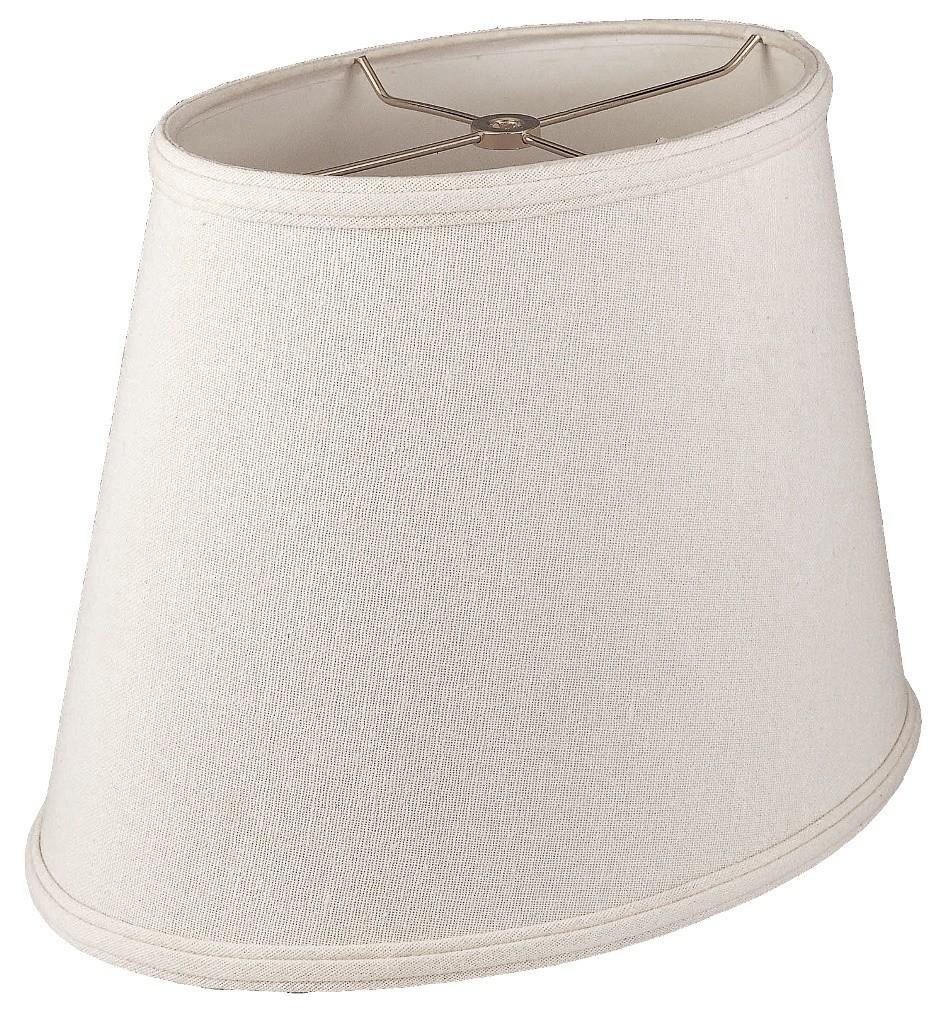 Oval linen lamp shade