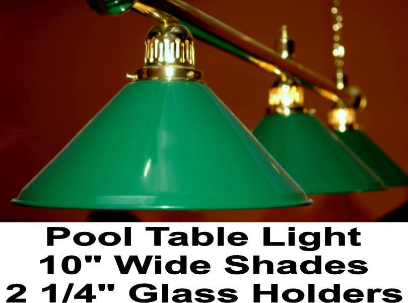 Billiard Table Glass Shade White