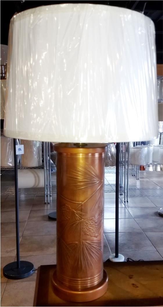 Pine Cones & Needles Copper Lamp