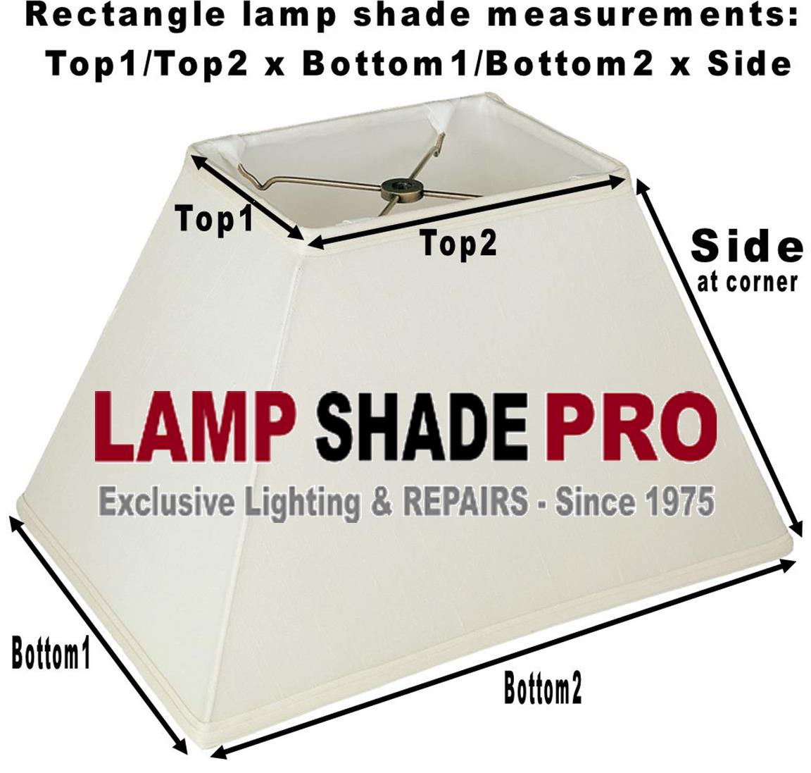 Rectangle Lamp Shade Measurements