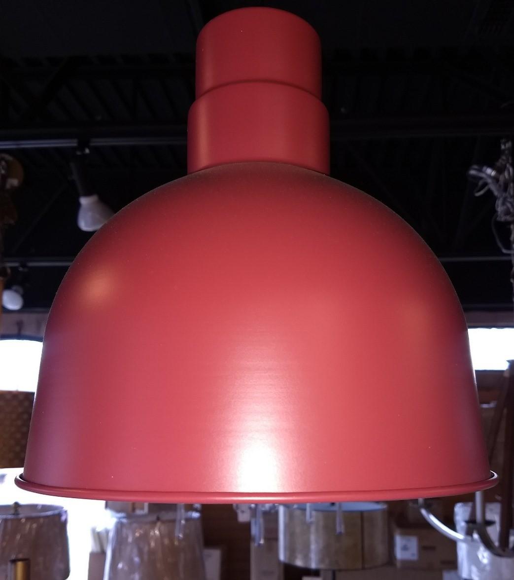 Satin red pendant light