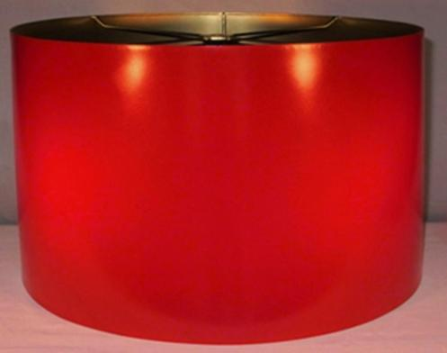 Red metal lamp shade