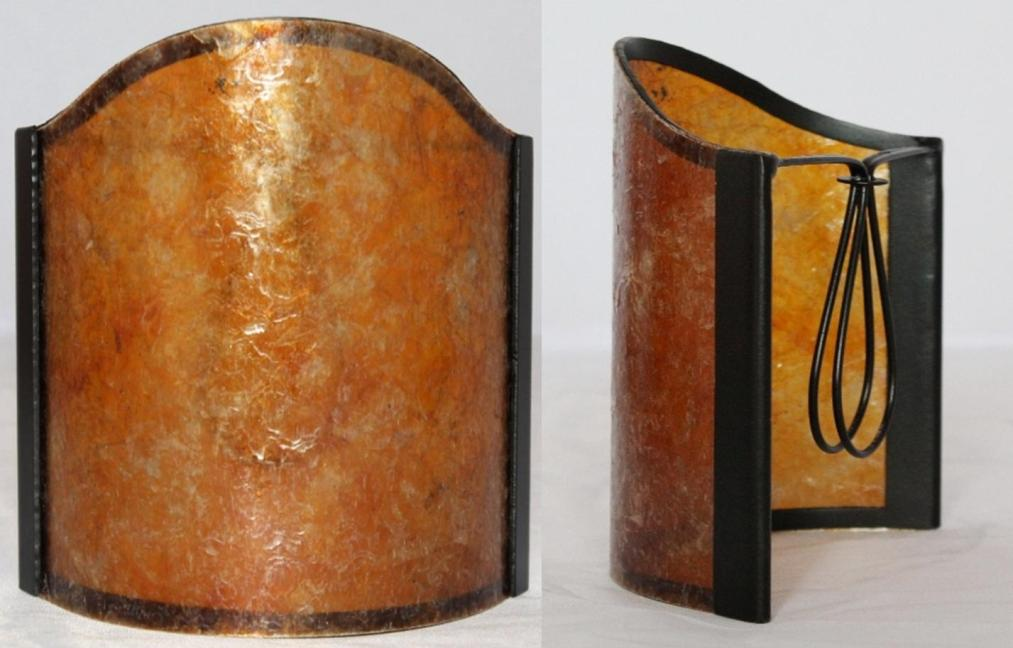 Amber mica sconce shade
