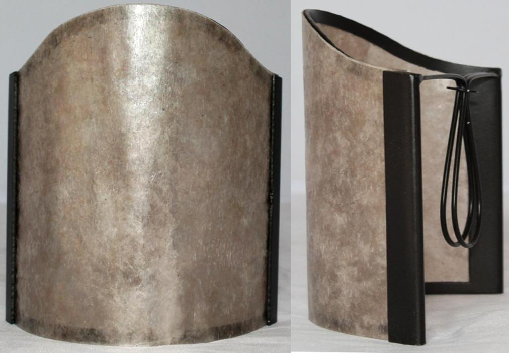 Silver mica sconce shade