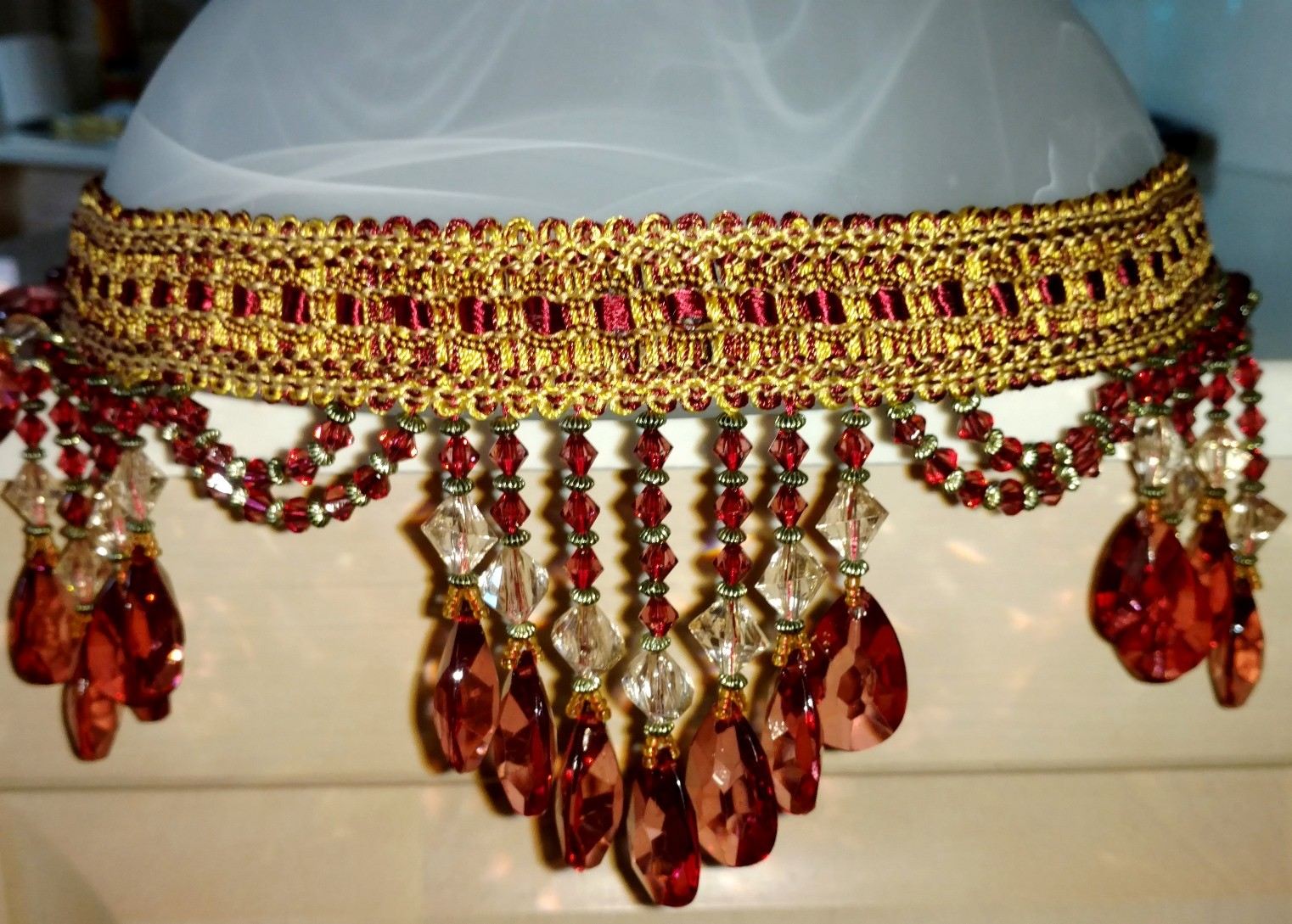 Burgundy Beads