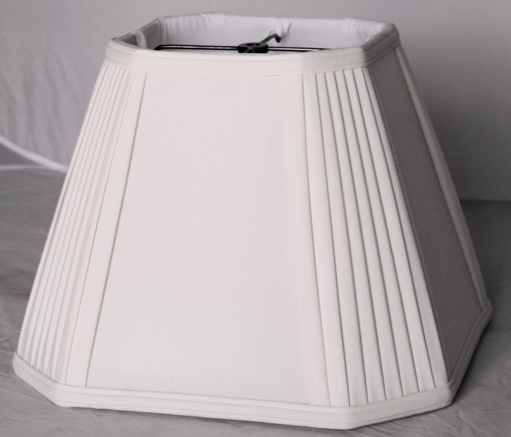 White square lamp shade pleated corners