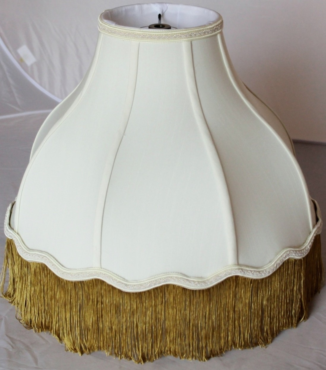 Victorian Lamp Shade Gold Fringe