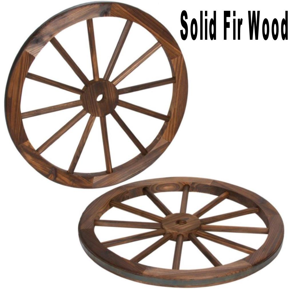 Fir Wood Wagon Wheel Chandelier 24-32""