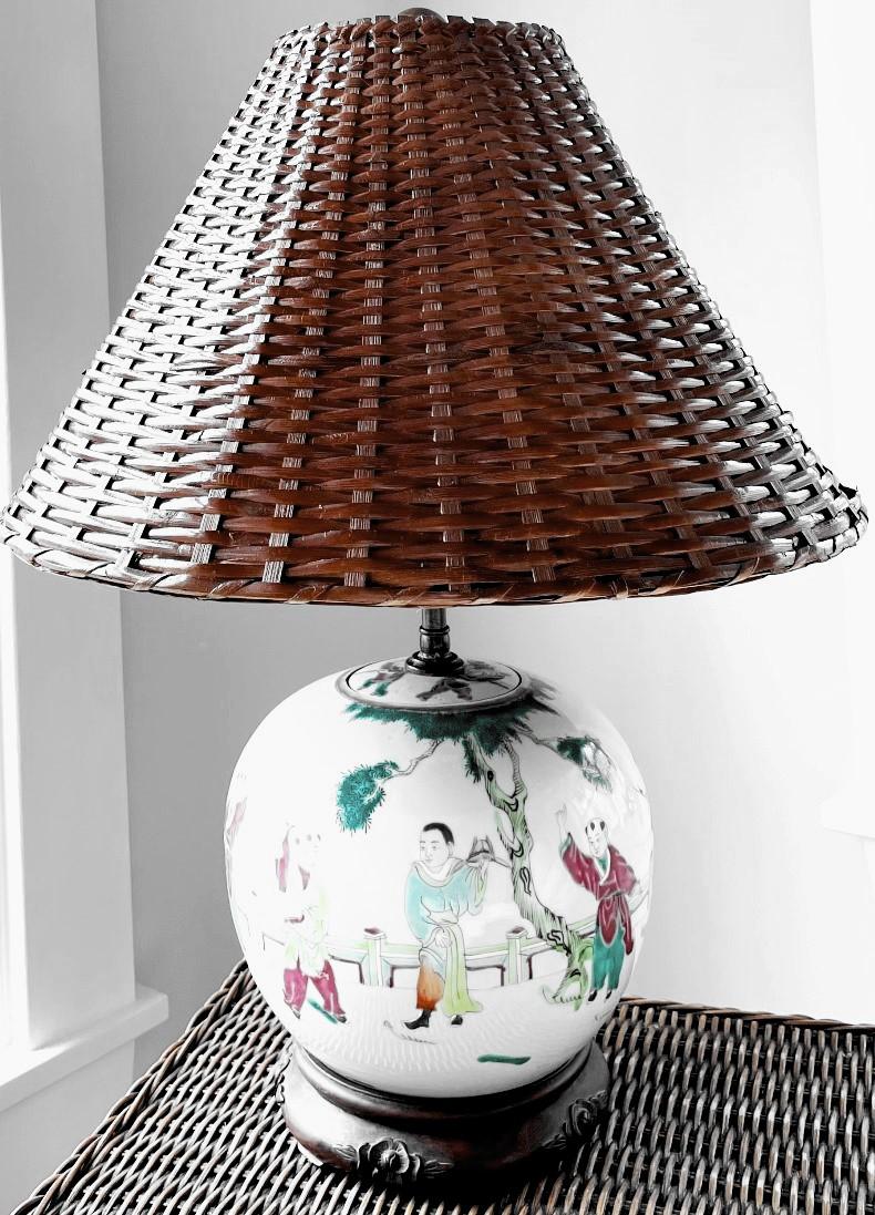 Coolie Wicker Rattan Lamp Shade
