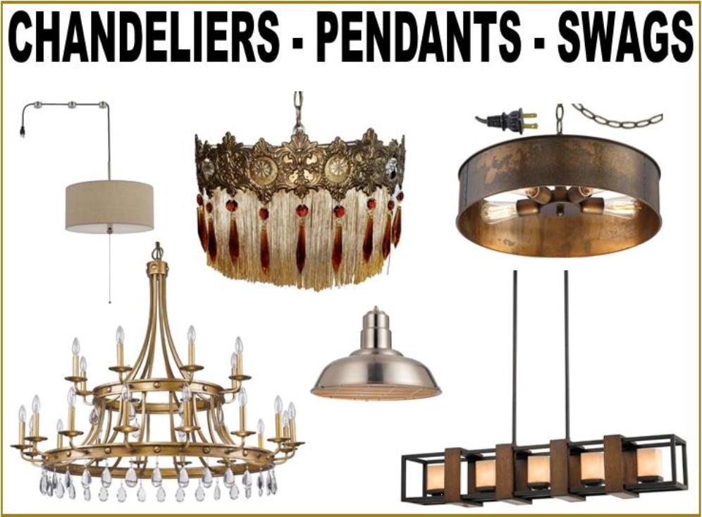 Chandeliers, Pendant Lights and Swag Lamps