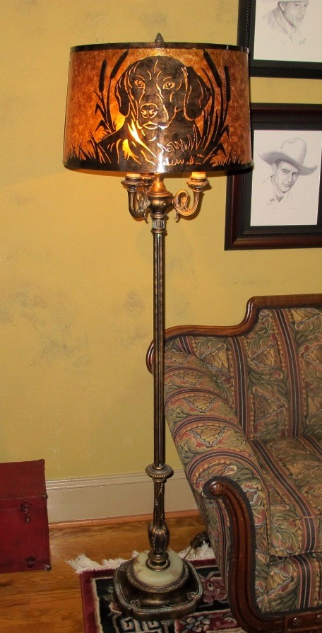 Custom Vintage 6 Way Floor Lamp Lamp Shade Pro