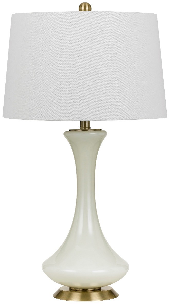 Ivory Ceramic Table Lamp Linen Drum Shade 28 H Bo 2636tb