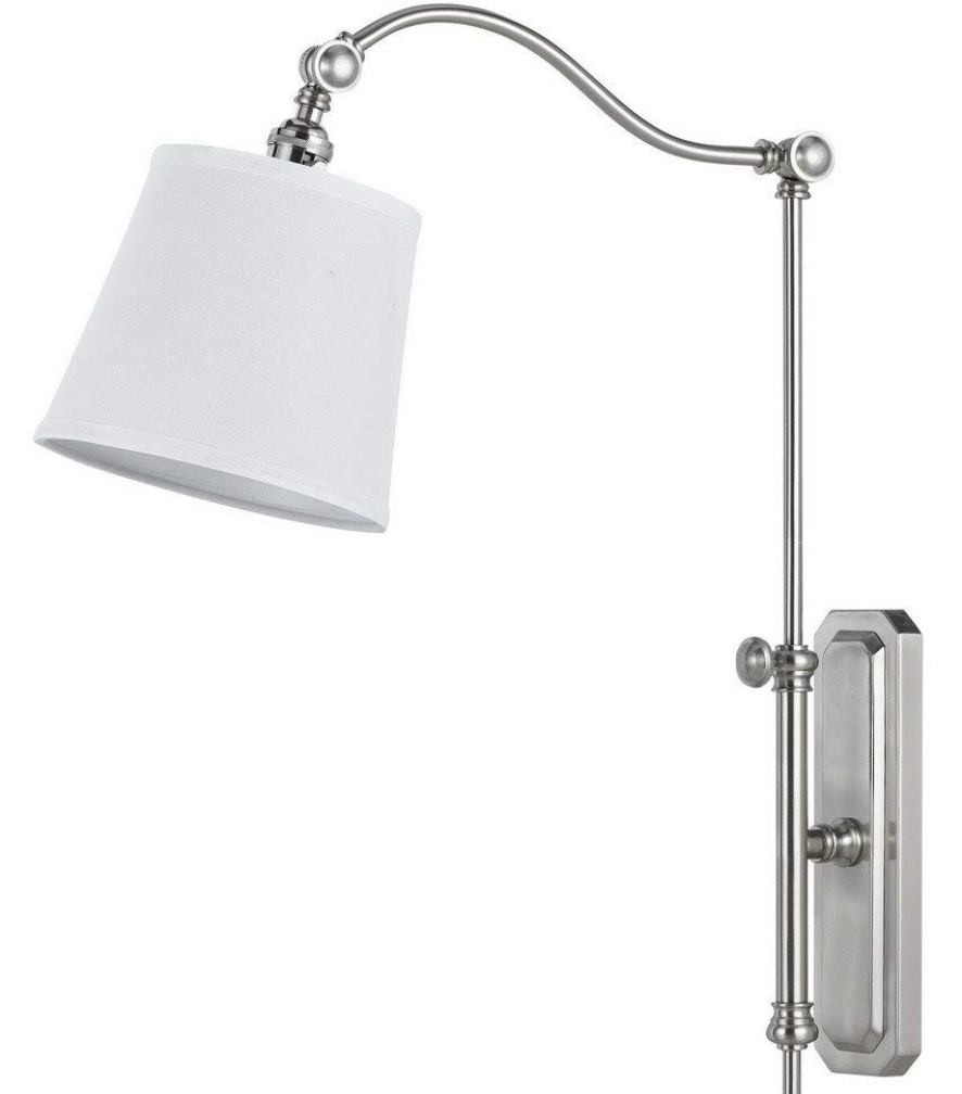 """Brushed Steel Wall Lamp Adjust Up Down Left Right 11""""W - Sale !"""