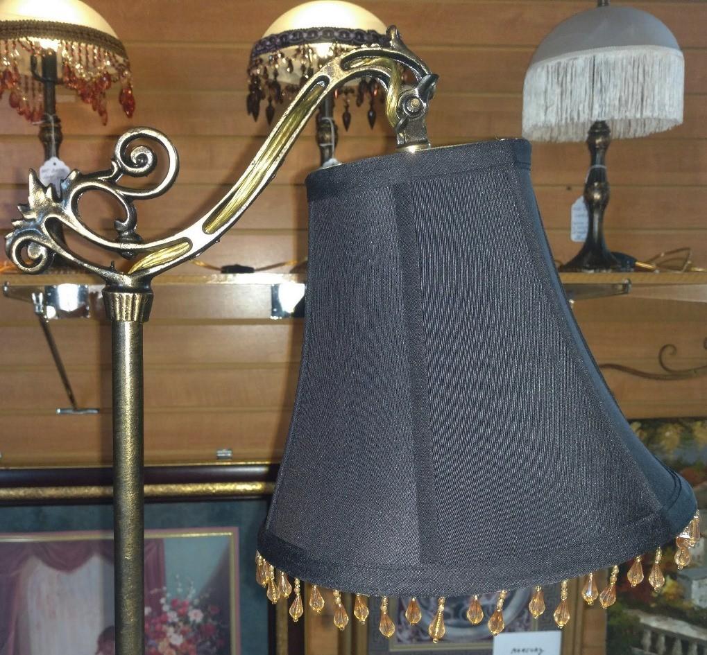 """Antique Bridge Arm Floor Lamp 56""""H"""
