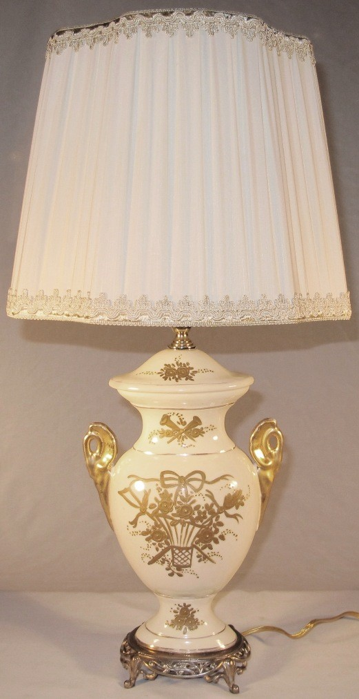Vintage victorian lamp porcelain lamp lamp shade pro