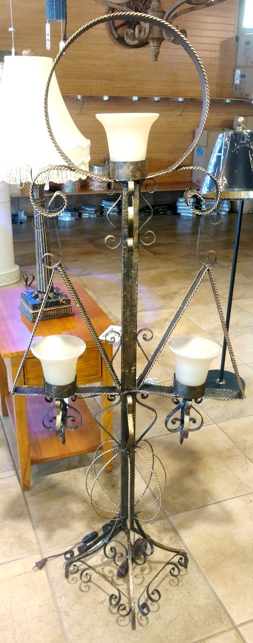 "Antique Medieval Floor Lamp 58""H - Sale !"