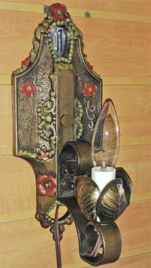 """Art Deco Wall Lamp 11""""H SOLD"""