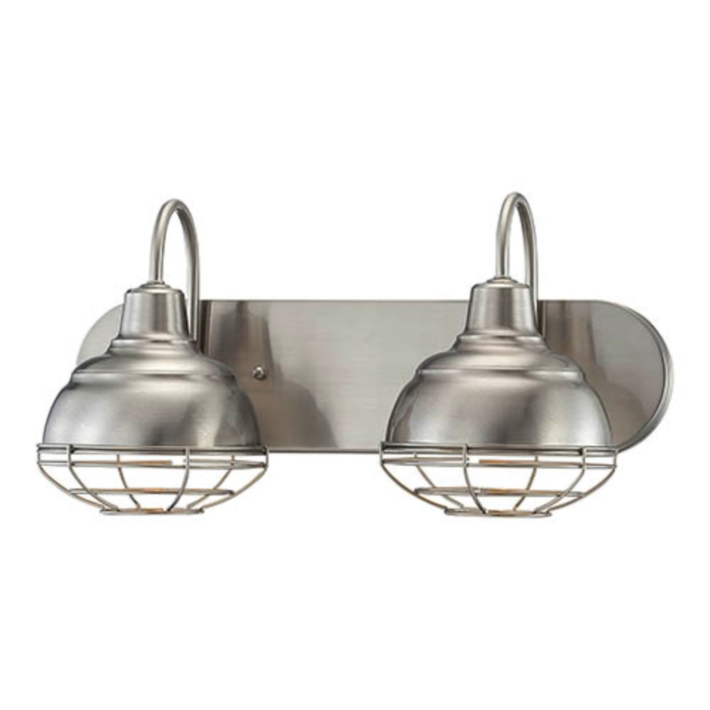 Neo industrial nickel bathroom wall light wire guard 18wx9h 5422sn neo industrial nickel bathroom wall light wire guard arubaitofo Images