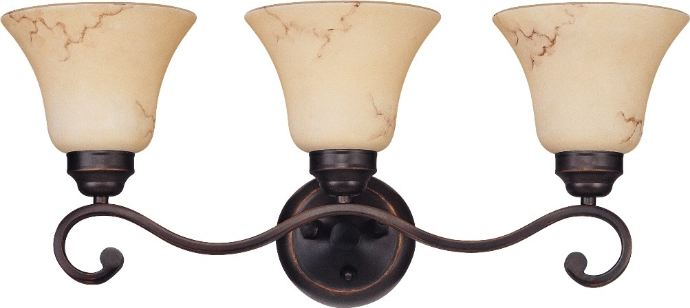 "Anastasia ORB Bronze Marble Glass Wall Light 23""Wx10""H"