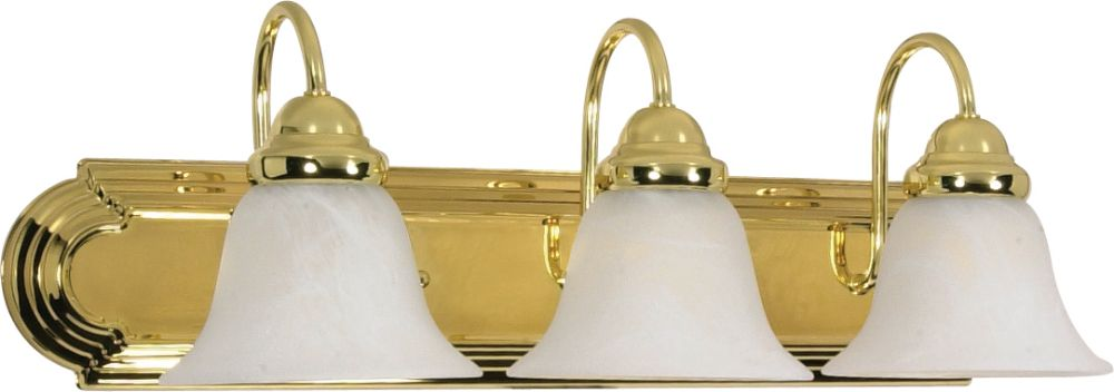 Ballerina Polished Brass Alabaster Glass Sconce Light WxH - Polished brass bathroom lighting