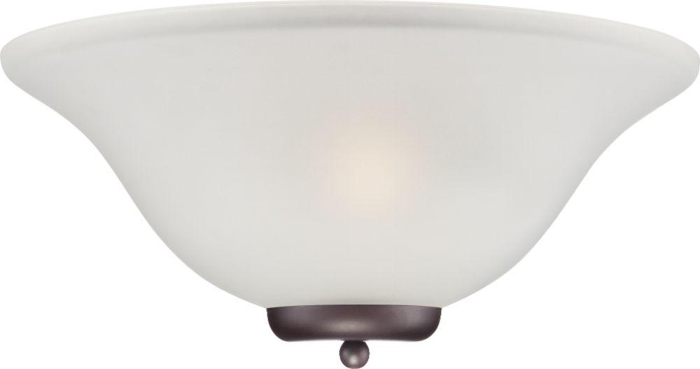 "Ballerina ORB Bronze Bathroom Light Alabaster Glass 16""Wx7""H"