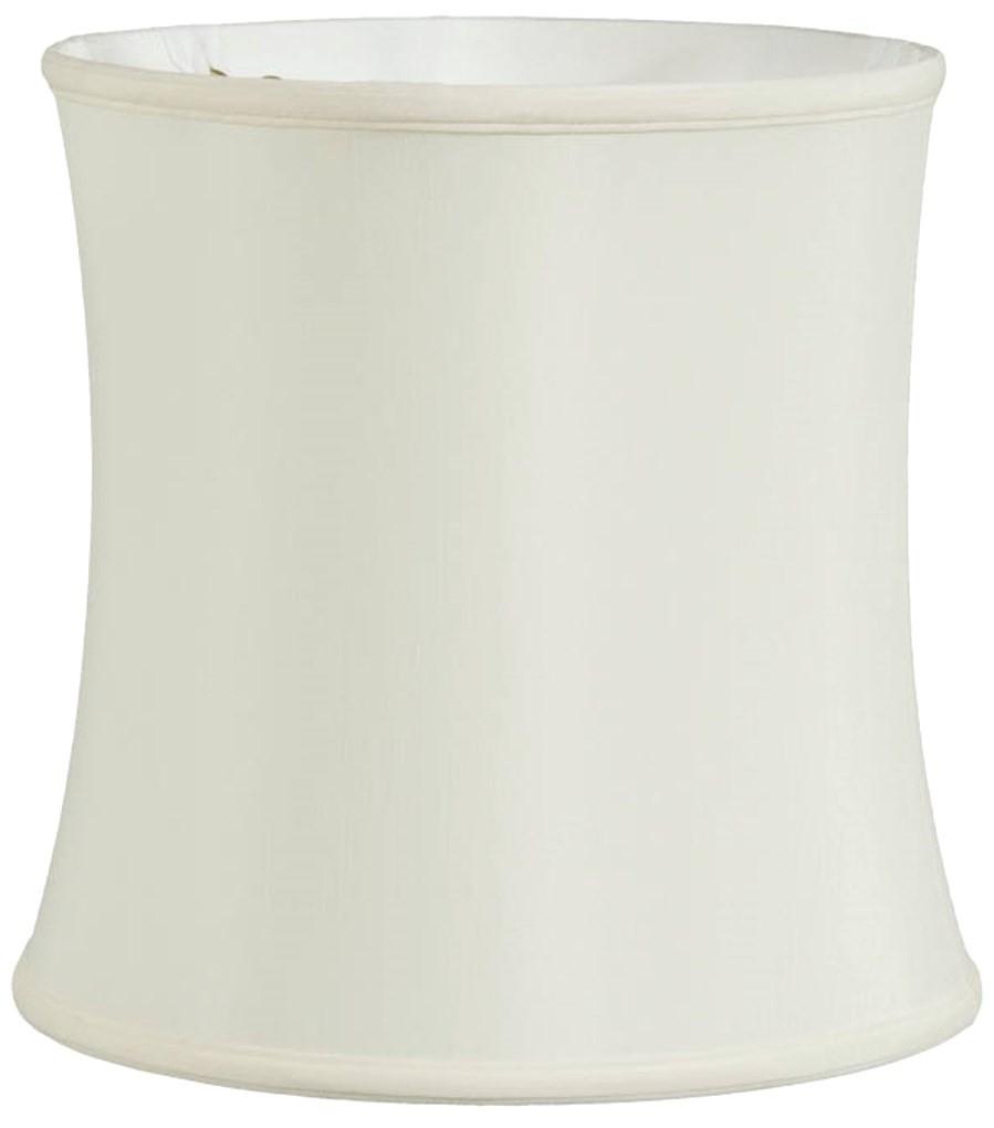 "Bell Silk Drum Lamp Shade Cream, Tan 12-18""W"