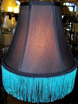 Custom Fringe For Black Lamp Shades